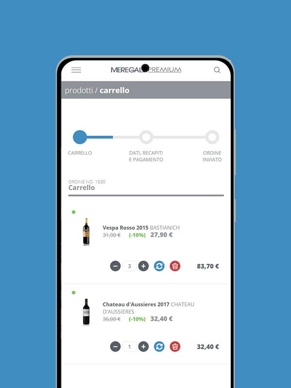 Sito e-commerce mobile